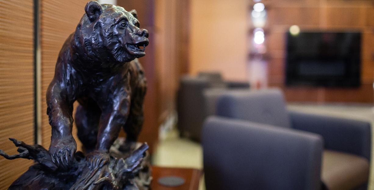 Statue of Bear in BKBH lobby